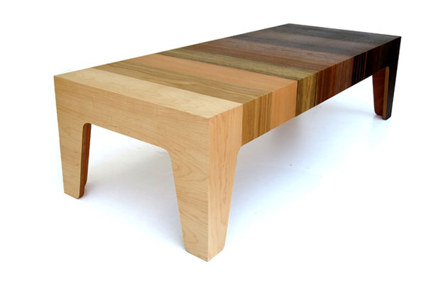 Gradient table furniture design by eli chissick - Types veneers used home furniture ...