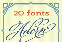Adorn a vintage font collection.