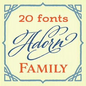Adorn - Festive Vintage Fonts and Ornaments