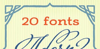 Adorn a vintage font collection.