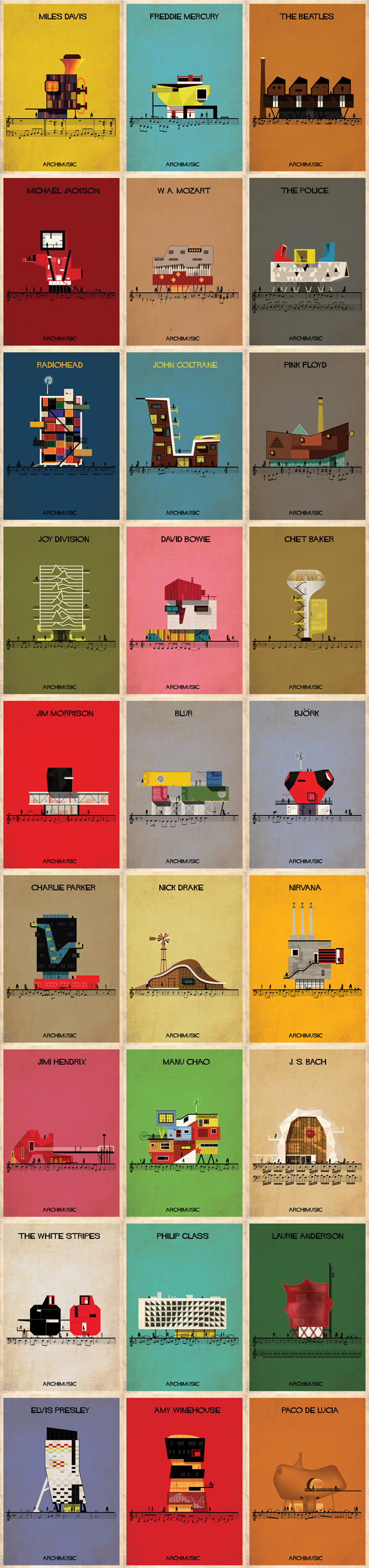 Archimusic Posters by Federico Babina