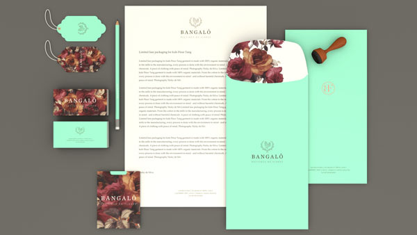 Bangalô - Boutique de Flores - Stationery set and brand design by Estúdio Alice.