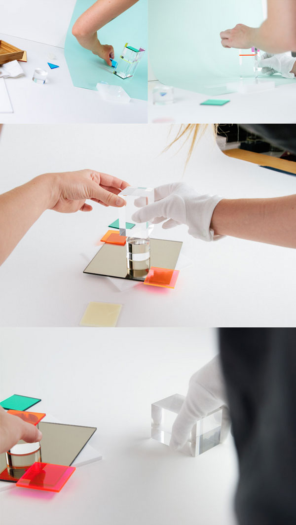 Behind the scenes - all objects are shot in a little studio