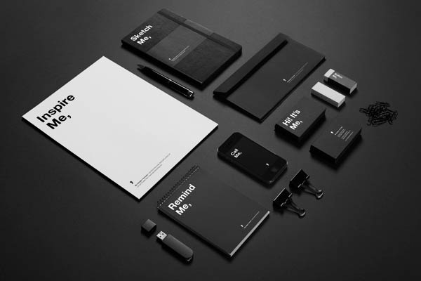 "Self-promotional branding materials of studio ""Me,""."