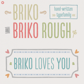 Briko - Handwritten Type Family From Nine Font
