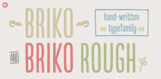 Briko, a hand-written type family from Nine Font