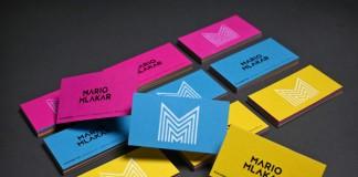 Colored business cards for filmmaker Mario Mlakar