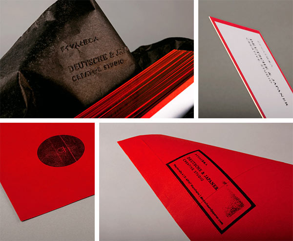 Corporate identity of German creative agency Deutsche & Japaner.