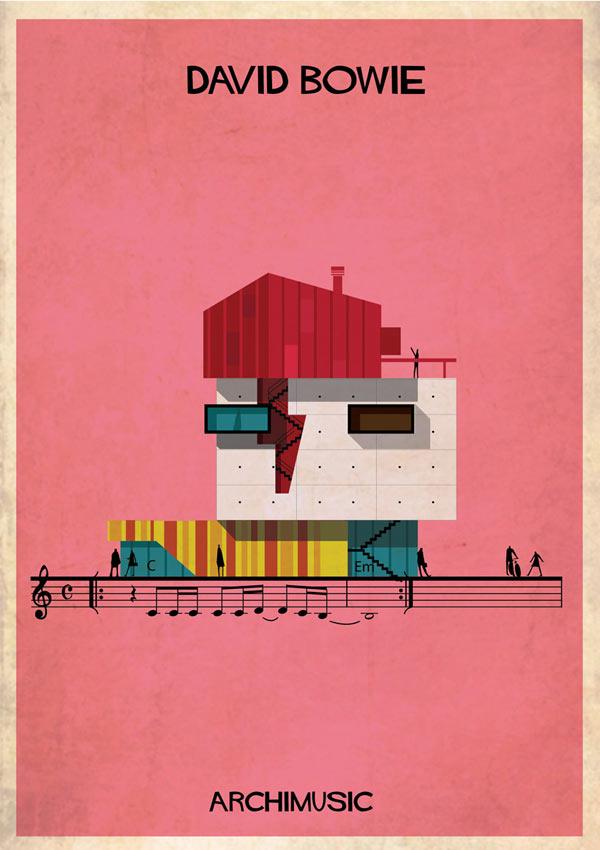 David Bowie - Archimusic Illustration by Federico Babina