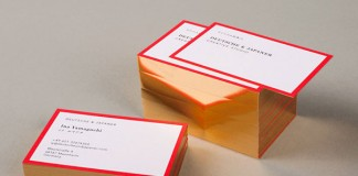 Deutsche und Japaner - Business cards based on the colors of Japanese and German national flags.