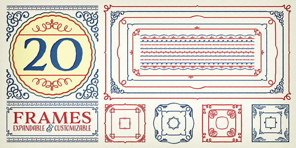 Adorn – Festive Vintage Fonts and Ornaments