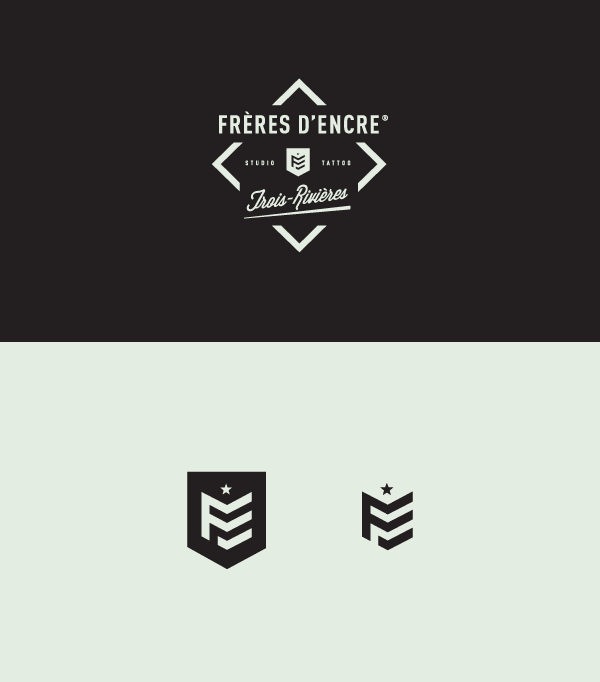 Frères d'Encre Tattoo Shop Brand Identity