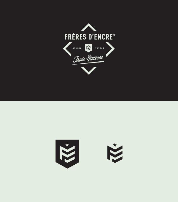 Frères d'Encre Tattoo Shop logo design by Carolane Godbout and Sebastien Dust Leblanc.