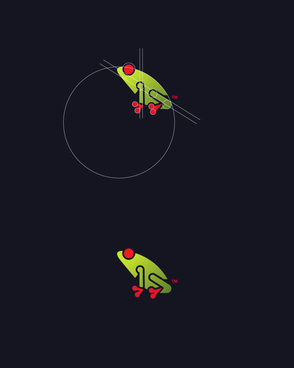 Frog graphic from the series Animal Logos vol. 2 by Tom Anders Watkins