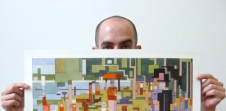 """Georges Seurat's """"A Sunday Afternoon on the Island of La Grande Jatte"""" as 8 Bit inspired artwork"""