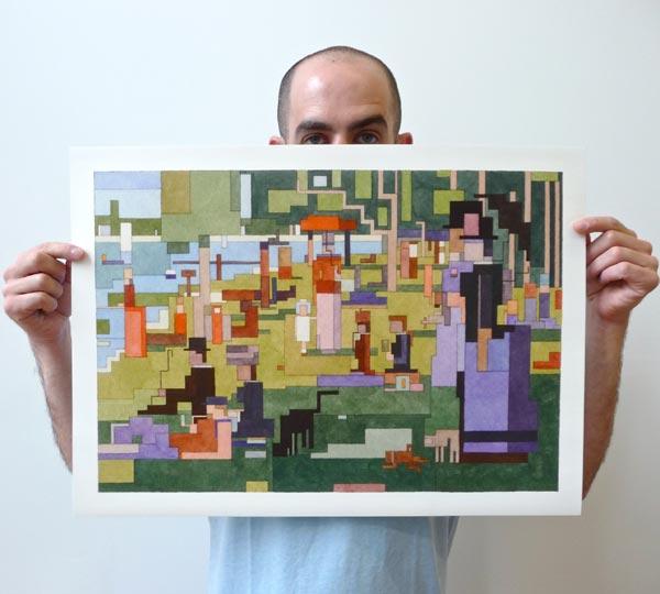 8 Bit Inspired Art by Adam Lister