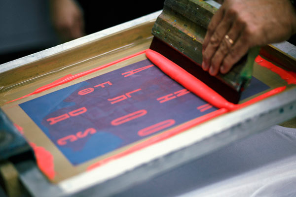 Handmade screen print process