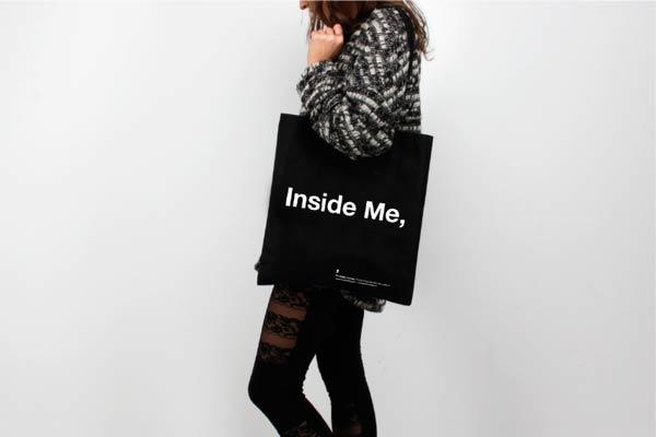 """""""Inside me,"""" shopping bag"""