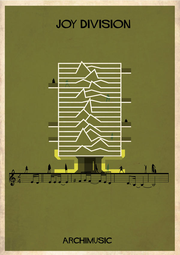 Joy Division - Band inspired poster design by Federico Babina