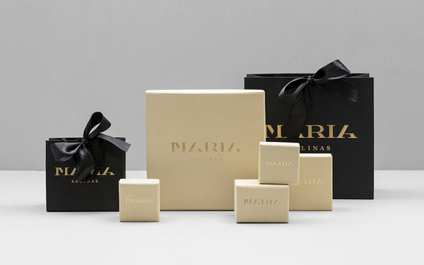 Maria Salinas - Mexican jewelry design store brand packaging.