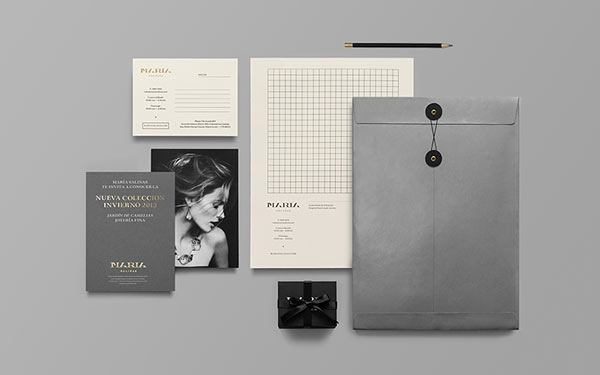 Maria Salinas - noble communication design - jewelry store branding by Anagrama