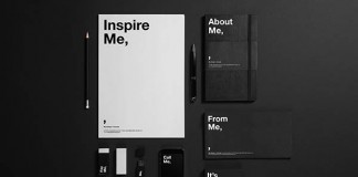 "Self-promotional rebranding of London based design studio ""Me,""."