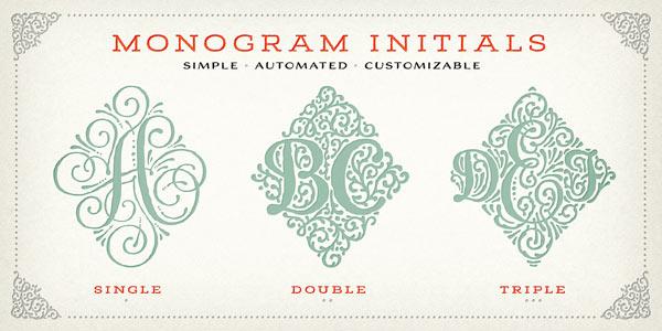 Monogram Initials - simple, automated, and customizable.