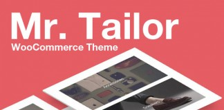 Mr. Tailor WooCommerce Shop Theme