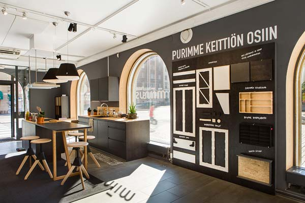 Example of the revolutionary new kitchen concept.
