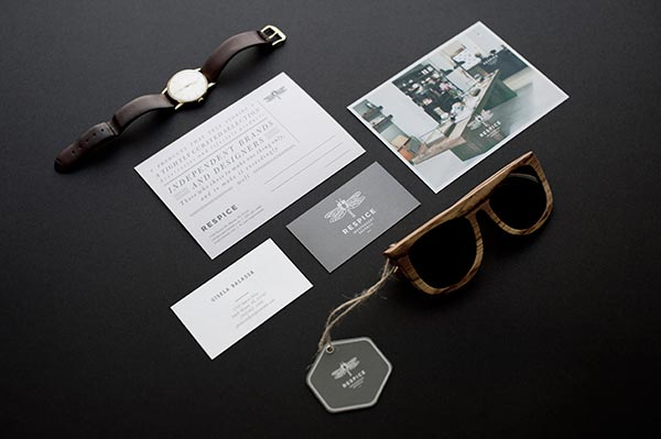 Respice concept store visual identity and brand material by Eszter Laki.