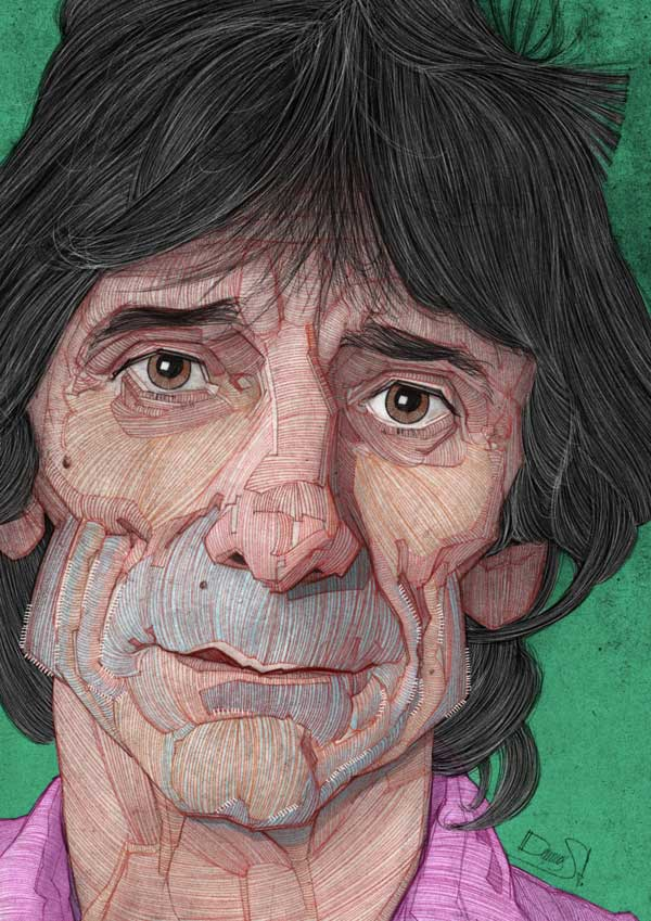 The Rolling Stones Illustrations by Stavros Damos