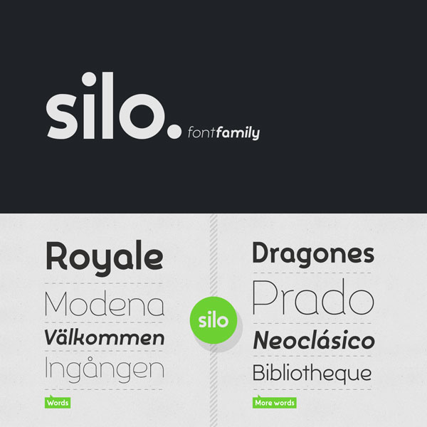 Silo, a fluid sans serif font family from TypeUnion.