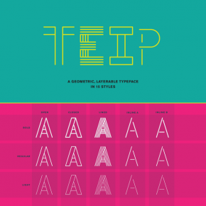Teip - Layerable Typeface System