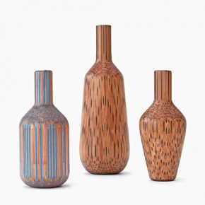 Amalgamated - Vases made up from Pencils