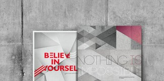 Believe in yourself - Nothing is impossible - A personal project by Yevgeniya Glova.