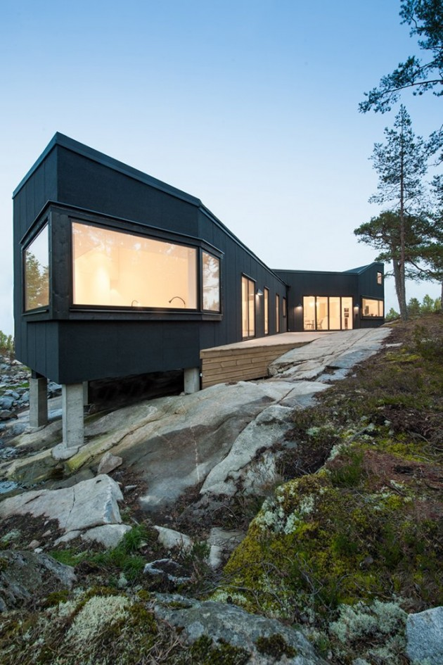 Modern architectural design in harmony with Sweden's nature.