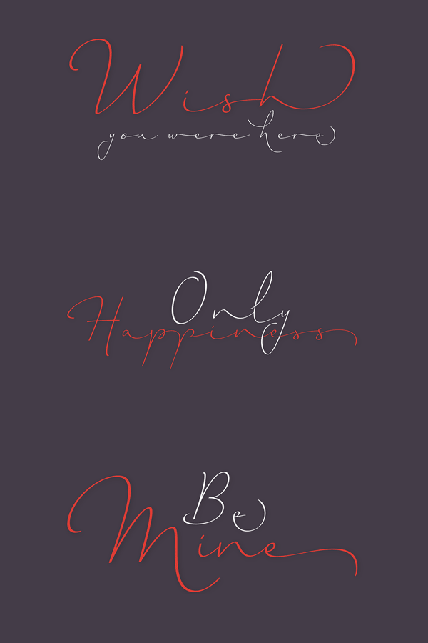 The Horizontes Script font - a combination of spontaneity, elegance, and beauty.
