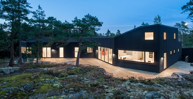 Villa Blåbär located in Nacka, Sweden by pS Arkitektur
