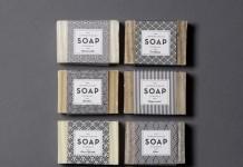 Art-Deco inspired soap packaging