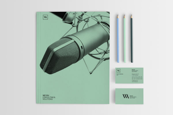 Communication design for a consulting company from Germany.