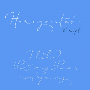 Horizontes Script Font from Sudtipos