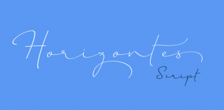 Horizontes Script font by Panco Sassano and Alejandro Paul from Sudtipos.