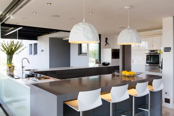 Bright and contemporary kitchen design.