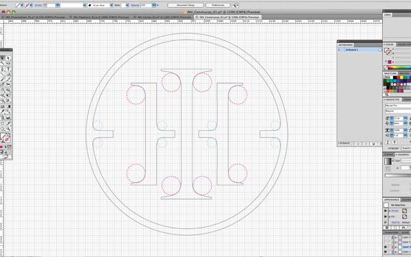 Digitization process of the logo.