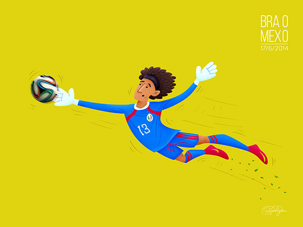 The Great Wall of Mexico - The outstanding performance by goalkeeper Guillermo Ochoa.