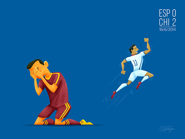 Adiós Espana - The end of Spain's dominance of global football.