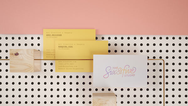 Business cards of an Argentine design studio.