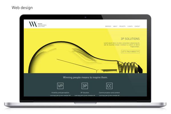 Responsive, full screen company website
