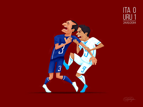 The Big Bite - Uruguay's Luis Suarez bit a player for the third time in his career after an incident with Giorgio Chiellini.