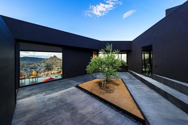 Courtyard of the Black Desert House.